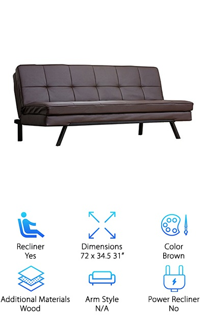 Abbyson Convertible Sofa