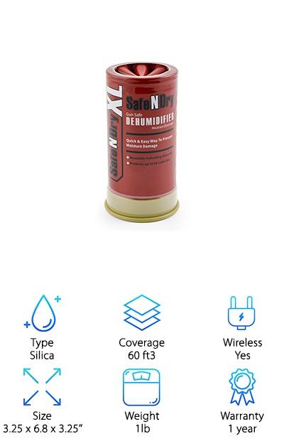 SafeNDry Gun Safe Dehumidifier
