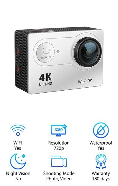 FITFORT Action Camera 4K