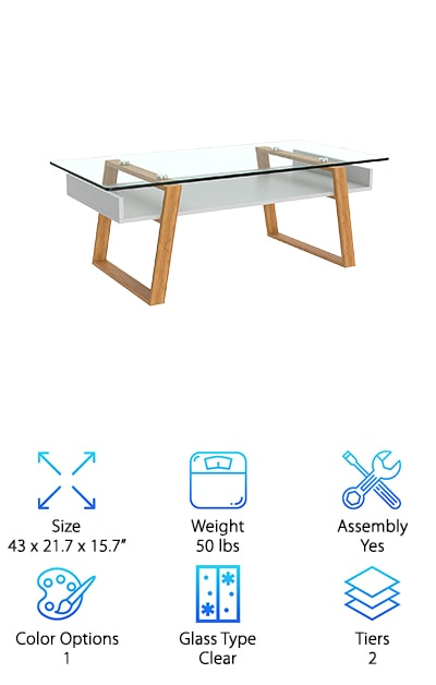 bonVIVO Designer Coffee Table