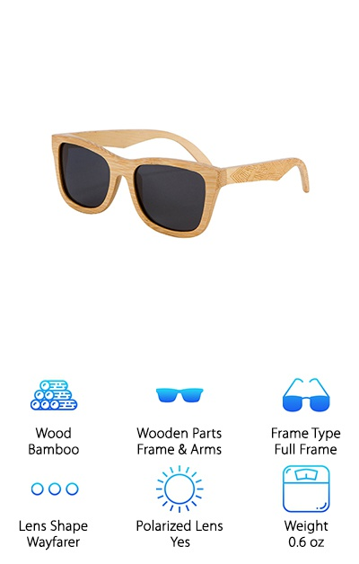 Shiner Bamboo Wood Sunglasses