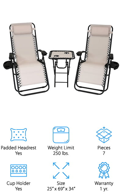 Sunnydaze Zero Gravity Chairs
