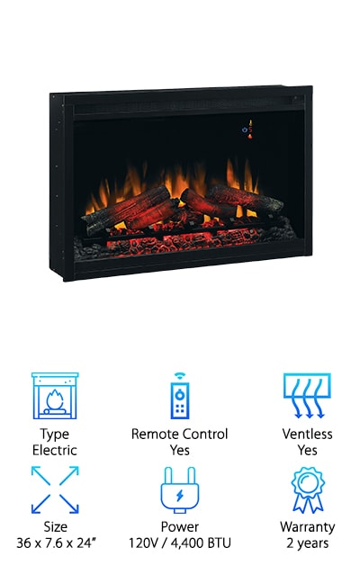 ClassicFlame Built-in Fireplace Insert