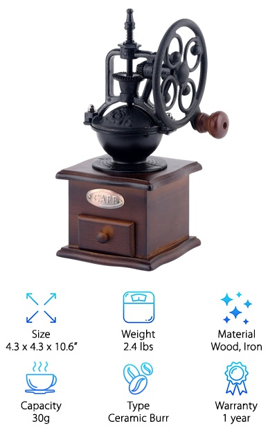 Foruchoice Vintage Coffee Grinder