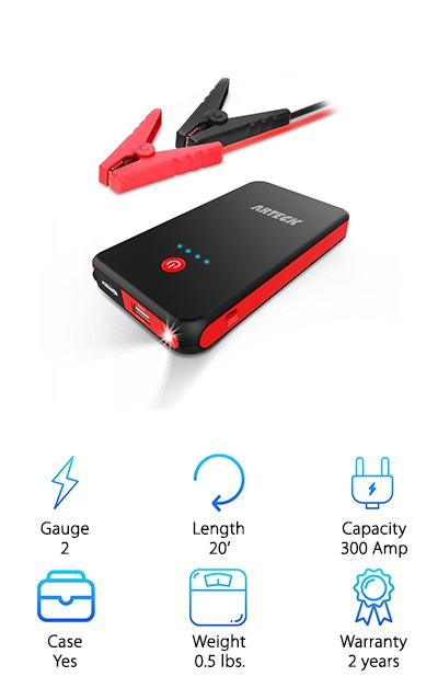 Arteck Car Jump Starter Battery