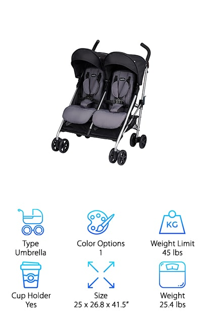 Evenflow Minno Twin Stroller