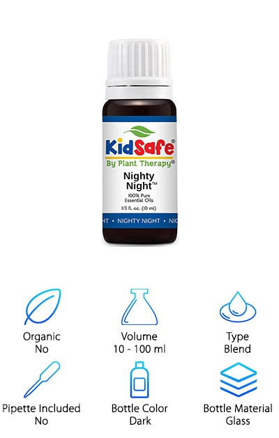 "A unique item from our Blue Tansy essential oil review, the ""KidSafe Plant Therapy"" blend gives children a new way to enjoy essential oils. This blend combines Lavender, Marjoram, Cedarwood Atlas, Patchouli, Clary Sage, Chamomile Roman, and Blue Tansy for an effective and gentle way to relax children. Anything that helps kids ease their way into bedtime is surely a welcome addition to any parent's box of tricks (keep it away from small children, of course)."
