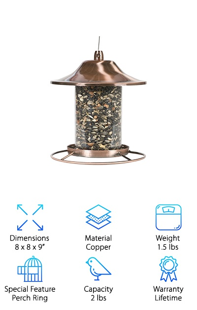 Perky-Pet Copper Bird Feeder