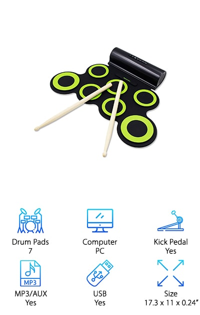 Paxcess Roll Up Drum Kit