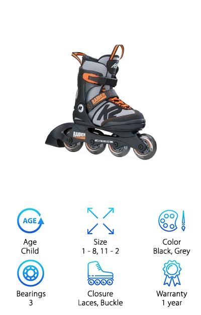 K2 Skate Boy's Raider Skates