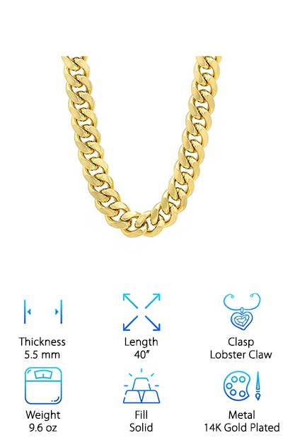Bling Factory Plated Chain