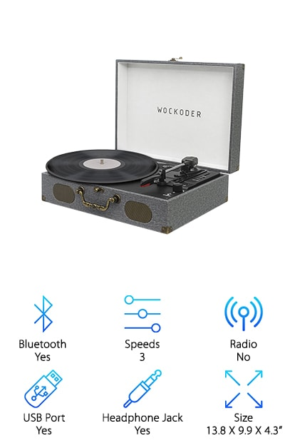 Wockoder Classic Turntable