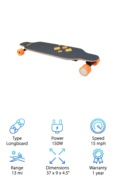 HAITRAL Motorized Skateboard