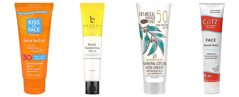 Best Natural Face Sunscreens