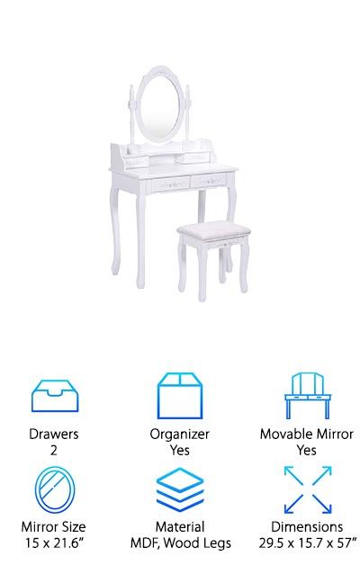 Giantex Vanity Dressing Table