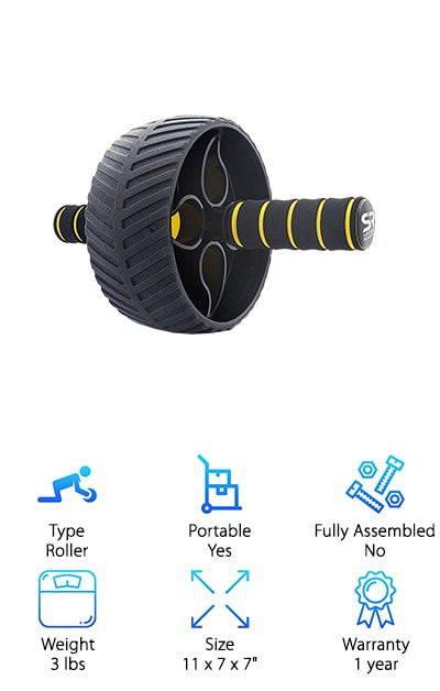 Sweet Sweat Portable Ab Roller