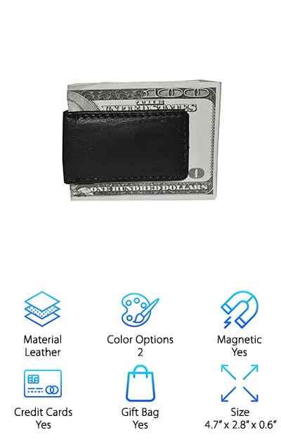 Leather Boss Money Clip