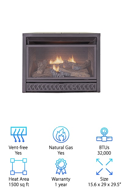 ProCom Dual Fuel Fireplace Insert