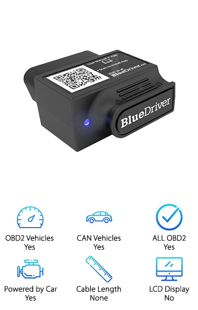 Rounding out our top ten picks for the best OBD2 scanners is a favorite choice featuring the best OBD2 scanner bluetooth. The Lemur is compatible with both Android and iOs devices and is capable of reading and clearing manufacturer and generic confirmed, pending, and permanent codes for all makes and models. Able to read and clear anti-lock brake, airbag, and transmission codes, this premium model delivers everything you need and more. Detailed repair reports include the code definition, possible causes, and reported fixes on the vehicle. Additional features include smog check, mode 6, freeze frames, and live data streaming. This easy-to-use device has all the bells of whistles of an expensive model, but is available at an affordable price that won't break the bank. If you are in need of a portable, professional device that hooks up easily to your phone or tablet, you should add Lemur to your collection of tools.