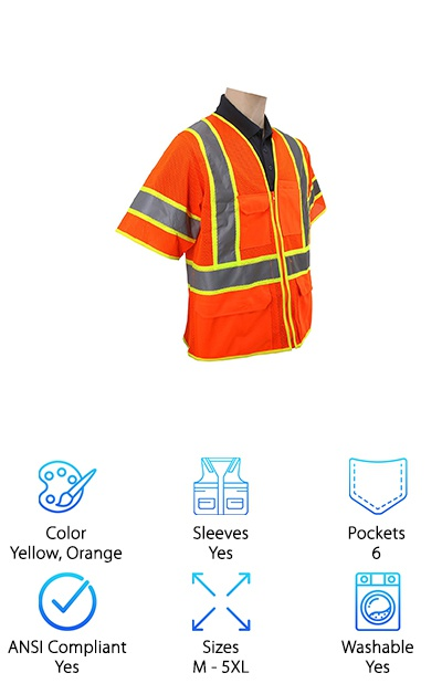 Brite Safety Style ANSI Vest