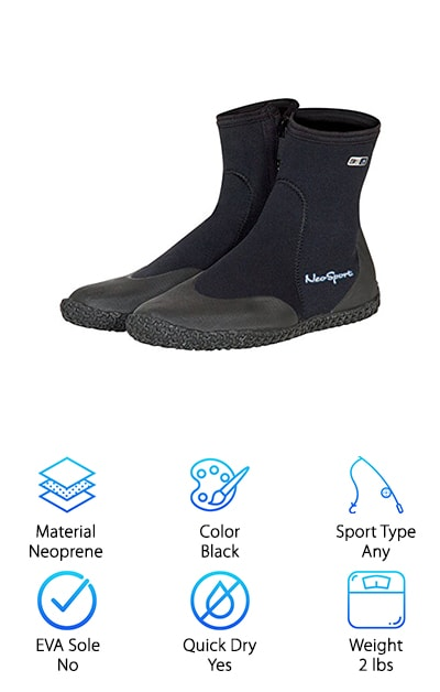 NeoSport Wetsuits  Zipper Boot