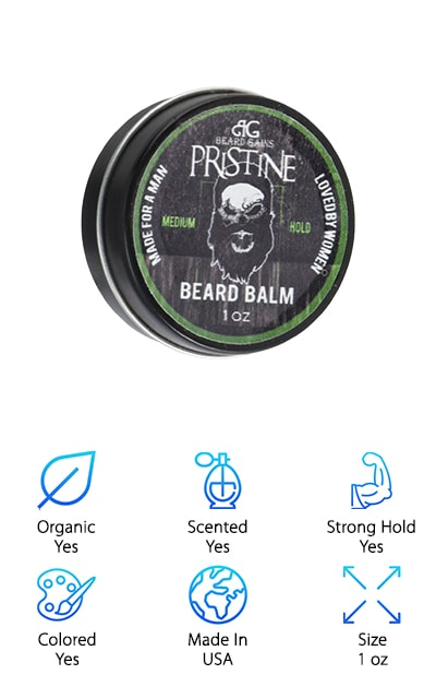 Beard Gains Mustache Wax is an awesome product that's made in the southern hills of Alabama. One of the coolest things about it is that it's all handmade and quality tested before it's sealed up and sent off to the customer. If you're looking for a colored wax, Beard Gains gives you a few options. It's actually available in 4 different colors: white, black, brown, and red. So, if you've been waiting for a wax to help blend away your grays, this one is a great choice. Not only does this formula add texture and volume, it also gives a lot of hold. That's not all. This product is actually a kit. It includes the mustache wax color of your choice along with a mini comb, awesome gift box, and a Beard Gains sticker.