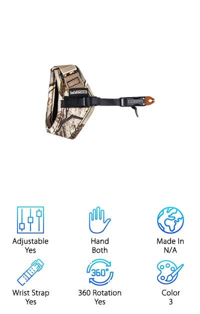This release is just the thing for anyone looking for the best archery thumb release. It comes in three colors to suit every style- green camo, purple camo, and black. It also comes in a few sizes to fit any archer. This includes sizing for children and adults, so everyone can find the perfect fit. This is the perfect choice for anyone who wants something a little different than the traditional rod releases. This release is a great pick for anyone who needs something that is a little bit more out of the way when you're not using it. This makes it easy to organize your gear or to set up your bow. This release hangs out of the way when you're not using it so you can easily focus on everything else you need to be doing. This is an awesome choice for any beginner or experienced archer.