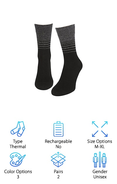 Air Wool Heated Socks