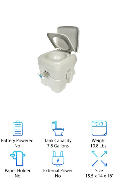 Camco Portable Travel Toilet