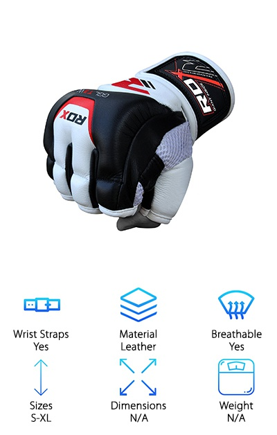 RDX Leather Grappling Gloves