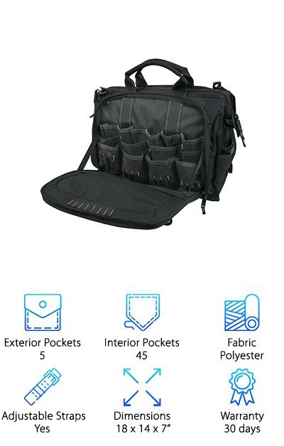 Custom Leathercraft 50 Pocket Bag Top Pick