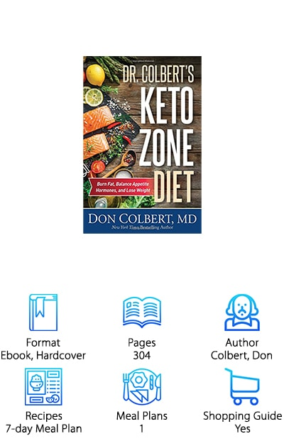 Written by a medical doctor, we think Dr. Colbert's Keto Zone Diet is one of the best ketogenic books on the market today. A comprehensive guide to how the keto diet works, this book goes beyond recipe ideas. It offers a 7-day meal prep to follow, and a shopping list, but delves deep into the science and facts behind a ketogenic lifestyle. Dr. Colbert does an excellent job at explaining the basics behind a high fat, low carb, and moderate protein diet and helping you understand if the ketogenic diet might be something you want to try. The book is straightforward and includes a lot of helpful information. And here's the kicker: this book includes a helpful guide for clearing your home of unhealthy foods! This is a great starting point to get rid of all unhealthy temptations that will make your keto journey tougher. Give it a try!