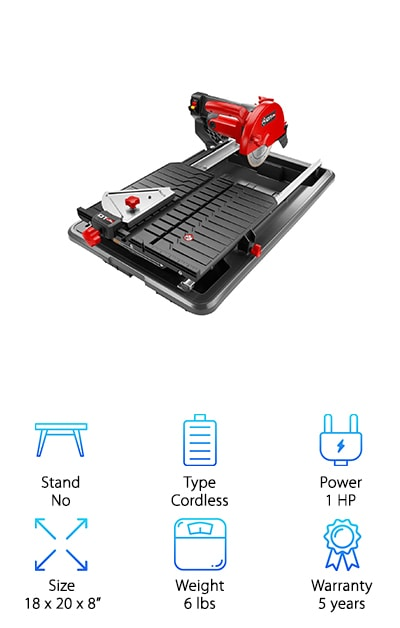 Rubi DT180  Wet Tile Saw