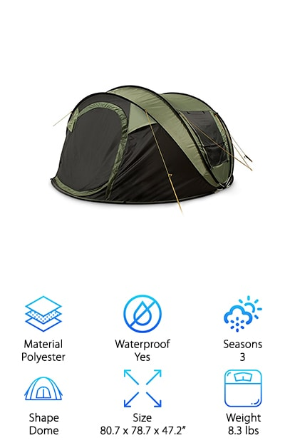 FiveJoy Instant Pop Up Tent