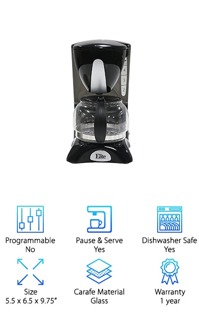 Elite Cuisine Coffee Maker