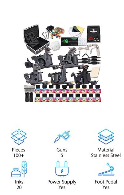 Dragonhawk 5 Gun Tattoo Kit