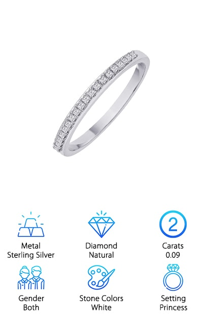 Katarina Princess Wedding Band