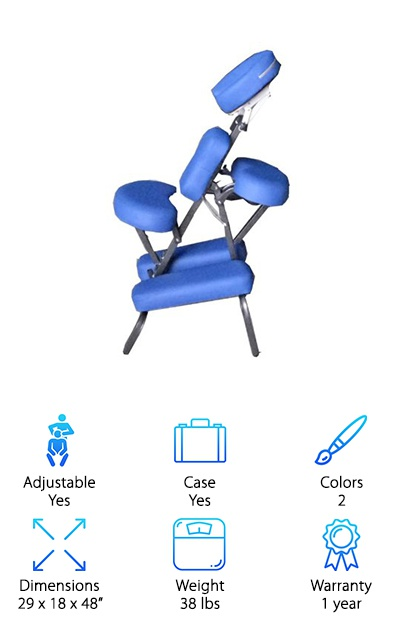 BestMassage Portable Blue Chair