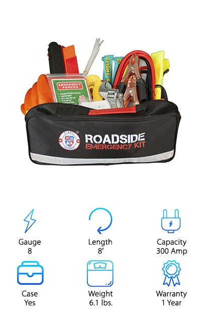 This is the second listing from Always Prepared. We liked the look of the Always Prepared jumper cables so much, we decided to give their emergency kit a try as well. And we're glad we did! This 65-piece kit includes just about everything you'd need in any minor emergency. The jumper cables are a little on the short side, but they are a strong 8-gauge. The kit also includes glowsticks, tools, gloves, ponchos, a first aid kit, and much more. It all comes in a very organized and heavy-duty case that will make sure you can find everything with ease when you need it. Feeling prepared for anything makes a great gift for anyone on your list; everyone from new drivers to veterans could use a handy kit like this. You'll always feel Prepared with this amazing kit.