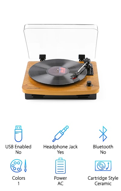 Musitrend Vintage Style Turntable