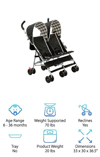 Delta Side by Side Stroller