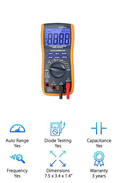 TRMS 6000 Counts Multimeter