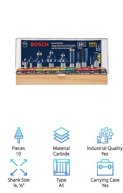 Bosch RBS010 Router Bit Set