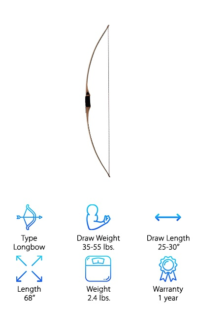SAS Pioneer Wood Long Bow