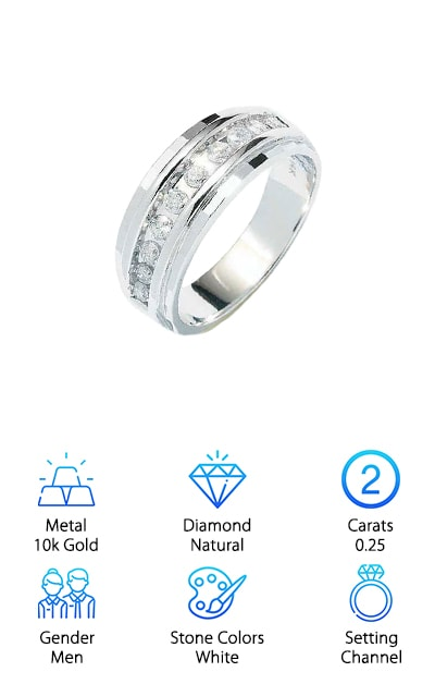 Sonia Diamond Wedding Band