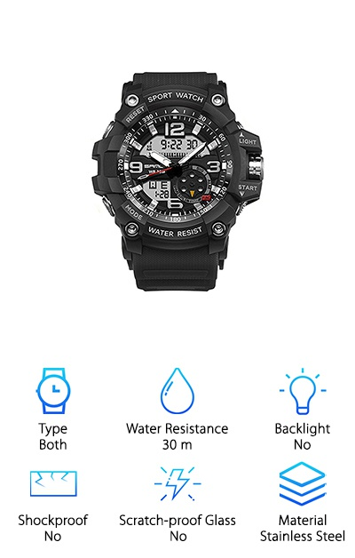 Wdnba Men's Analog-Digital Watch