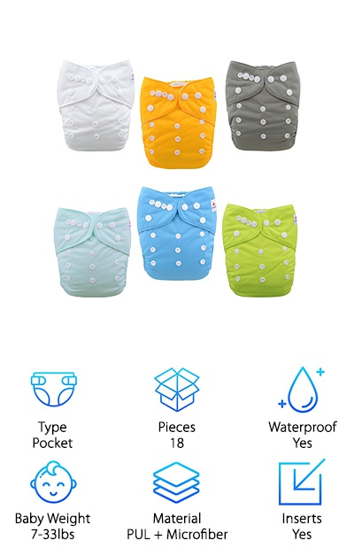 Alva Baby All-in-One Diapers