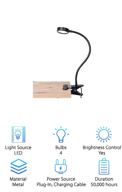 LEPOWER Clip on Reading Light