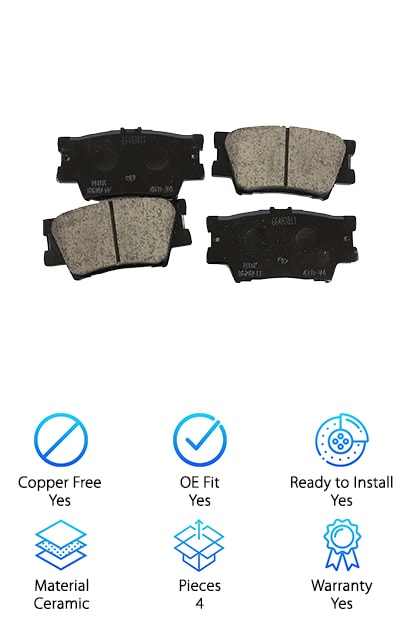 Toyota 446606090 Rear Brake Pad