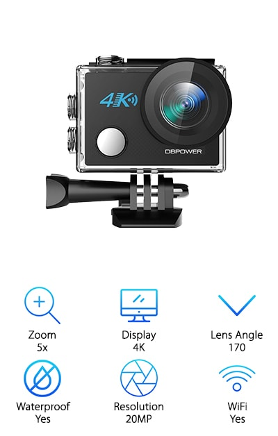 DBPOWER N5 Action Camera
